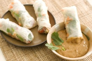Summer rolls help squeeze veggies into the picnic