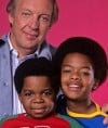 "Actors Conrad Bain and Todd Bridges, with the late Gary Coleman (center) from NBC's ""Diff'rent Strokes"""