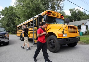 Student beaten while waiting for school bus