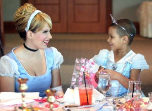 Princesses share time with girl battling leukemia