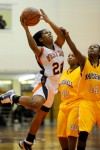 West Side senior guard Narshanda Malone shoots