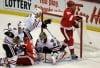 Red Wings beat Blackhawks 3-2 in Detroit home opener
