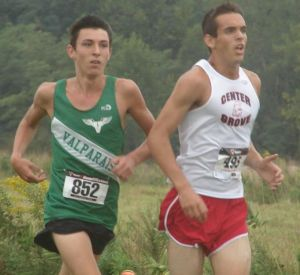 Dalton moves to the front of the Valpo pack