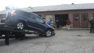 SUV plows into upholstery store in Valparaiso