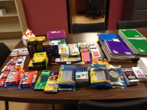 Horseshow Casino employees donate school supplies