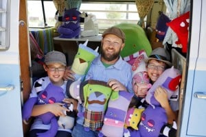 Crafts: Father, sons make monsters you can love