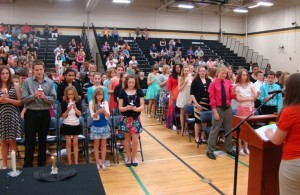 Barker Middle School Inducts 63 into National Junior Honor Society