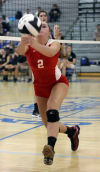 Crown Point and Lake Central volleyball