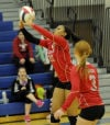 T.F. South's Crystal Lee sends the ball