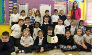 Our Lady of Grace First Grade Class received a special gift