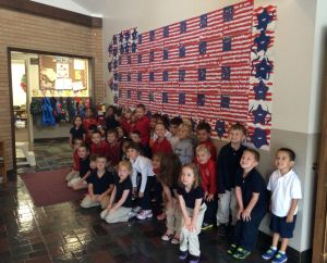 Preschoolers go red, white and blue at St. Thomas More
