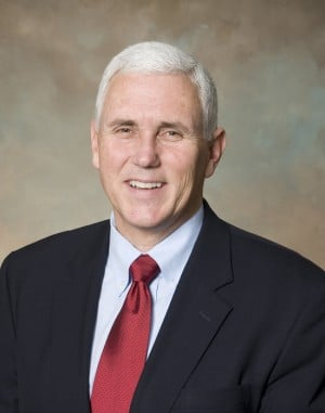 Gov. Pence coming to region today