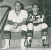 Ted Karras, right, Fred Williams before 1963 NFL championship game