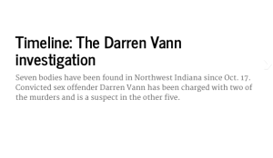 Timeline: The Darren Vann investigation