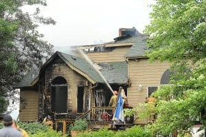 Fire damages Kouts home