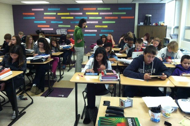 Modern Math Classroom ~ Ipads in the math classroom are a big hit at hobart middle