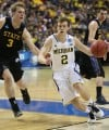 Michigan freshman and Crown Point native Spike Albrecht drives 