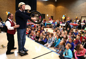 Children ring in New Year's at Crown Point event