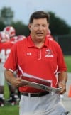T.F. South head football coach Tom Padjen