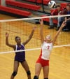 Crown Point vs Merillville, Girls volleyball