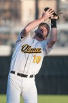 NWI Oilmen Kenny Mahala catches a fly ball during Friday's game against the Southland Vikings at Whiting's Oil City Stadium.