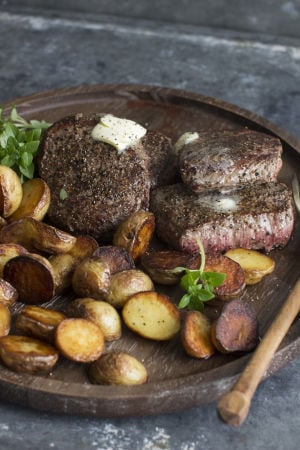 Butter and black pepper, a steak's best friends