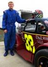 Stan Zolodz IV with car at Illiana Speedway