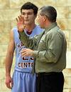 Hanover Central coach Bryon Clouse gives instruction to Payton Smith