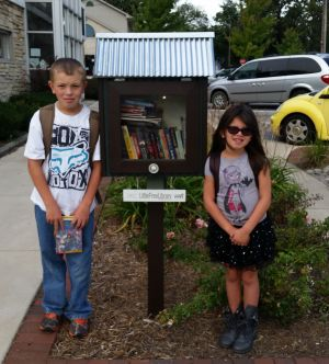 Little Free Libraries offer books throughout the community