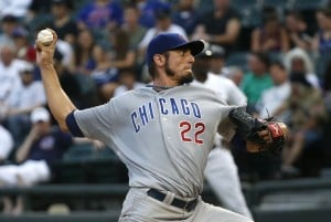Garza makes himself doubly marketable in Cubs' win