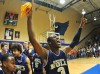 Bishop Noll basketball player Adonis Filer celebrates