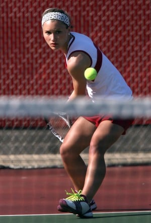 Chesterton's Margaret Shinn shows her versaility on the tennis court