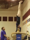 Merrillville's Kristina Goodman competes on vault at the Chesterton Sectional on Saturday. Goodman qualified for regional on floor.