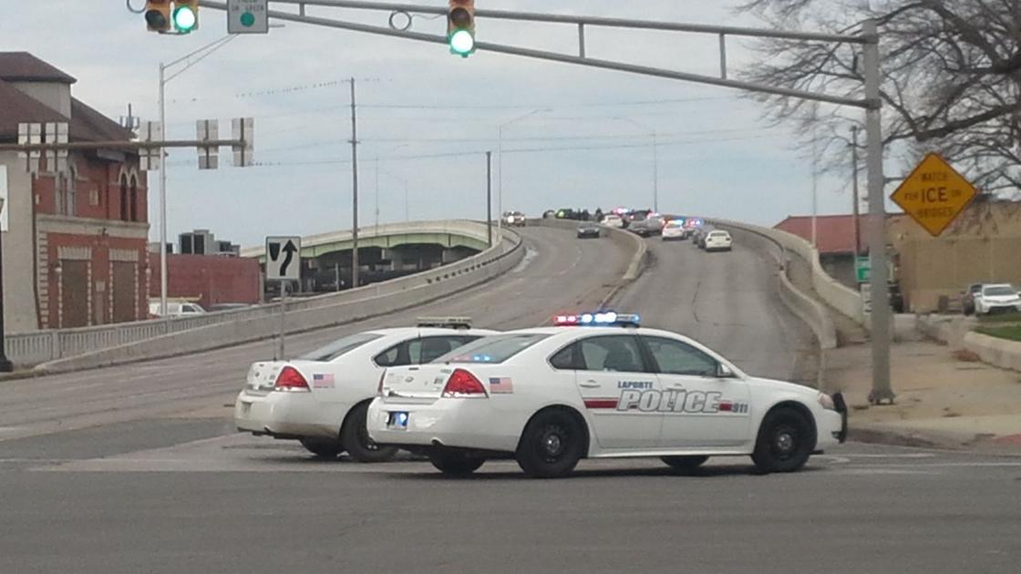 Man threatens to jump off bridge traffic on road closed for Laporte county news