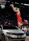 Clippers' Griffin leaps car to win dunk contest  
