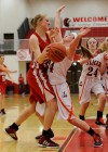 Crown Point's Michaela Prough, LaPorte's Delanie Alcorn