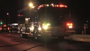 Firefighters respond to brush fire at Munster Steel Co.