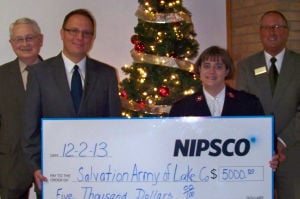NIPSCO makes impact with $5,000 check to Salvation Army