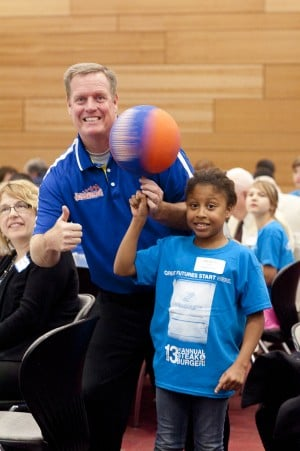Jim 'Basketball' Jones tells kids not to let weaknesses hold them back