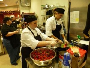Boone Grove High School culinary class