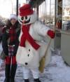 Take a stroll with Frosty