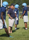 Thornridge head football coach Pat Jennings at pracitce