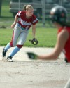 Hanover Central's Ivy Dawson catches a line drive