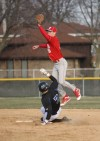 T.F. South's Cody Krilich leaps for a catch