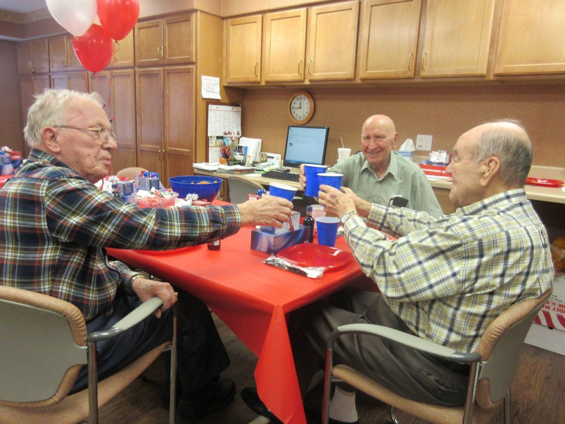 veterans day luncheon for residents of hartsfield village assisted