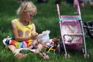 Kids, dolls parade in Crown Point