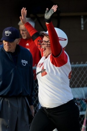 Portage's Hodges goes yard in big softball sectional win