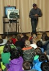 Safety train visits Merrillville school