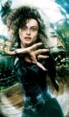 "Helena Bonham Carter as witch Bellatrix Lestrange in the ""Harry Potter"" film series"