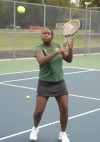 Illiana Christian girls tennis player Zhavia gray